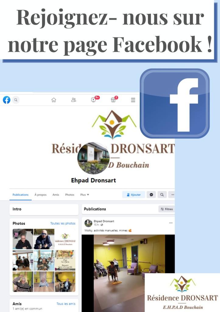 Retrouvez nous sur notre page facebook